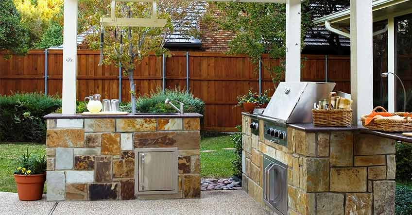 Cucine in muratura da esterno non basta accendere il fuoco - Cucina da esterno ...