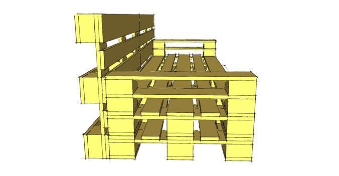 Costruire con i pallet divani in pallet - Divano pallet istruzioni ...